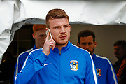 Coventry City defender Chris Stokes (3) arrives during the EFL Sky Bet League 2 match between Notts County and Coventry City at Meadow Lane, Nottingham, England on 18 May 2018. Picture by Simon Davies.
