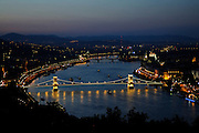 budapest, capital city of hungary by the river danube