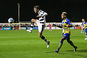 Forest Green Rovers Christian Doidge(9) controls the ball during the Vanarama National League match between Solihull Moors and Forest Green Rovers at the Automated Technology Group Stadium, Solihull, United Kingdom on 25 October 2016. Photo by Shane Healey.