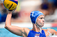 24-07-2017: Waterpolo: Nieuw Zeeland v Nederland: Boedapest<br /> <br /> (L-R) Marloes Nijhuis of team Netherlands during the waterpolomatch between women New Zealand and Netherlands at the 17th FINA World Championships 2017 in Budapest, Hungary<br /> <br /> Photo / Foto: Gertjan Kooij