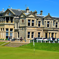 Tom Morris 18th Hole at Old Course at St Andrews, Scotland<br />