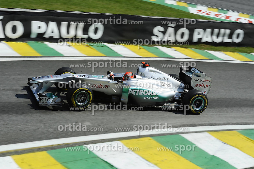 25.11.2011 Autodromo Jose Carlos Pace, Sao Paulo, BRA, F1 Grosser Preis von Brasilien, im Bild Michael Schumacher (GER), Mercedes GP // during the Formula One Championships 2011 Large price of Abu Dhabi held at the Yas-Marina-Circuit, 2011/11/12. EXPA Pictures © 2011, PhotoCredit: EXPA/ nph/ Dieter Mathis..***** ATTENTION - OUT OF GER, CRO *****
