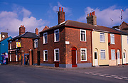 A752H9 Red brick nineteenth century terraced housing Great Yarmouth Norfolk England