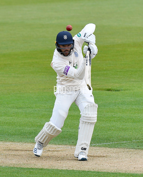 Aiden Markram of Hampshire batting during the first day of the Specsavers County Champ Div 1 match between Hampshire County Cricket Club and Essex County Cricket Club at the Ageas Bowl, Southampton, United Kingdom on 5 April 2019.