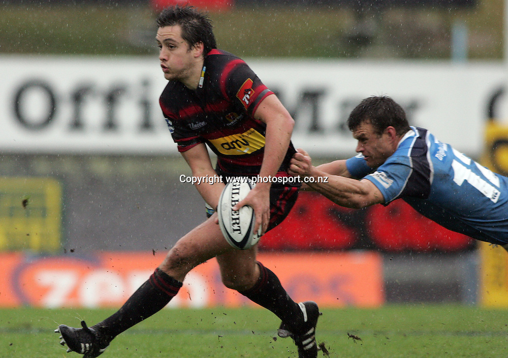 Tim Bateman in action during the Air New Zealand Cup rugby union match between Northland and Canterbury at ITM Stadium, Whangarei, New Zealand on Saturday 5 August, 2006. Canterbury won the match 25 - 11. Photo: Hannah Johnston/PHOTOSPORT<br />