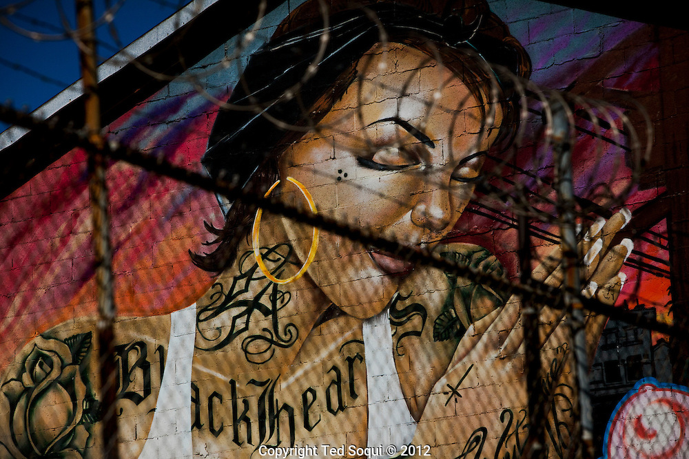 Graffiti street art in downtown Los Angeles.
