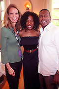 24 June 2010- Miami Beach, Florida- l to r: Jane Gilbert, Andrea Kelly and Michael Baisden at the The 2010 American Black Film Festival Founder's Brunch held at Emeril's on June 24, 2010. Photo Credit: Terrence Jennings/Sipa