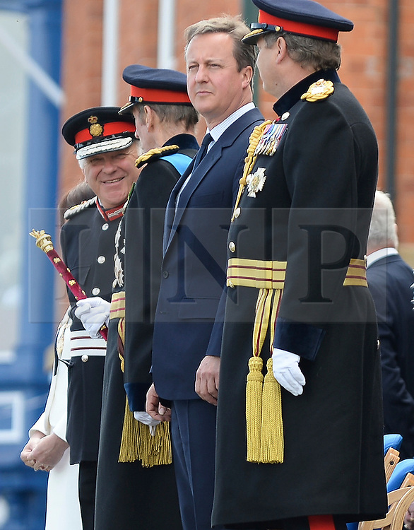 © Licensed to London News Pictures. 25/06/2016.  Prime Minister David Cameron makes first public appearance following the UK's vote to leave the EU at The Armed Forces Day Parade, Cleethorpes, Lincolnshire on 25 June 2016. Photo credit : LNP