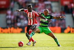 Swansea City's Andre Ayew tackles Southampton's Sadio Mane - Mandatory by-line: Jason Brown/JMP - 07966 386802 - 26/09/2015 - FOOTBALL - Southampton, St Mary's Stadium - Southampton v Swansea City - Barclays Premier League