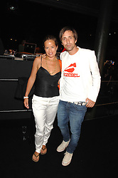 JADE JAGGER and DAN WILLIAMS at a party to celebrate the launch of the new Fiat Bravo held at The Roundhouse Theatre, Chalk Farm Road, London on 13th June 2007.<br /><br />NON EXCLUSIVE - WORLD RIGHTS