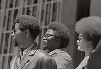 Kathleen Cleaver  at Black Panther demo in San Francisco California in the late 1960's.