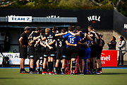 Black Sticks Huddle at the final game of the Black Sticks v Canada Test Matches 21 October 2018. Copyright photo: Alisha Lovrich / www.photosport.nz