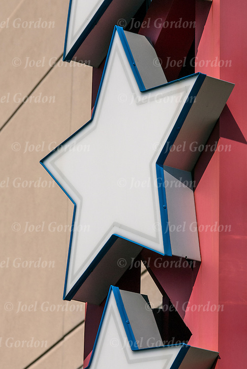 Five Sided Stars on side of building