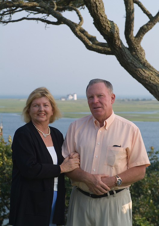 Grant and Helene Wilson in their home in Chatham, Massachusetts.  Photo by Johnny Bivera
