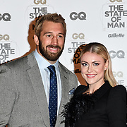 Chris Robshaw and Camilla Kerslake Arrivers at GQ 30th Anniversary celebration at Sushisamba, The Market, Convent Garden on 29 October 2018.
