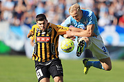 MALMO, SWEDEN - MAY 20: Moestafa El Kabir of BK Hacken and Franz Brorsson of Malmo FF during the Allsvenskan match between Malmo FF and BK Hacken at Malmo Stadion on May 20, 2018 in Malmo, Sweden. Photo by Lars Dareberg/Ombrello ***BETALBILD***