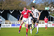Wrexham Forward Jordan White in action during the Vanarama National League match between Bromley FC and Wrexham FC at Hayes Lane, Bromley, United Kingdom on 8 April 2017. Photo by Jon Bromley.