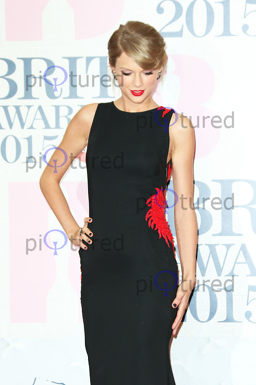Taylor Swift, The BRIT Awards, The O2, London UK, 25 February 2015, Photo by Richard Goldschmidt