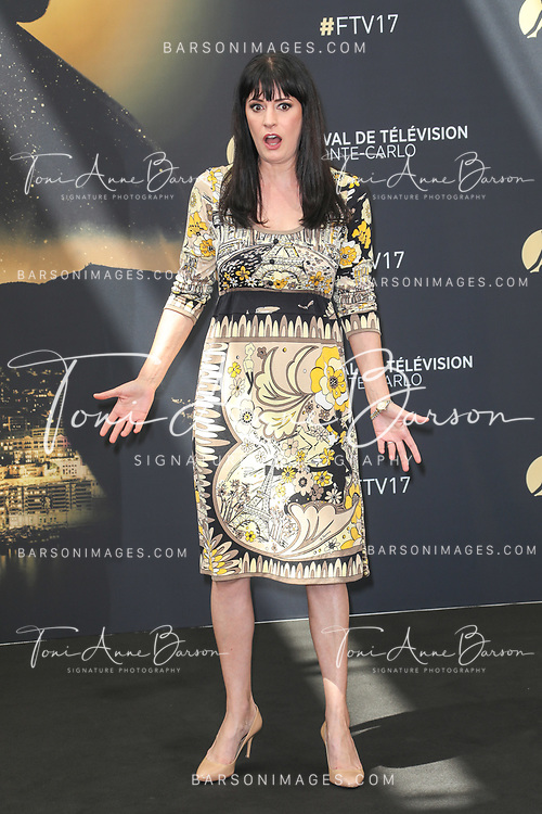 "MONTE-CARLO, MONACO - JUNE 19:  Paget Brewster attends ""Criminal Minds"" photocall on June 19, 2017 at the Grimaldi Forum in Monte-Carlo, Monaco.  (Photo by Tony Barson/FilmMagic)"