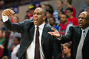 DALLAS, TX - NOVEMBER 26: Texas Southern Tigers head coach Mike Davis looks on against the SMU Mustangs on November 26, 2014 at Moody Coliseum in Dallas, Texas.  (Photo by Cooper Neill/Getty Images) *** Local Caption *** Mike Davis
