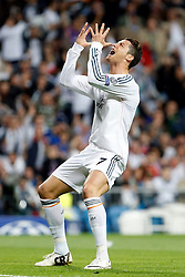 23.04.2014, Estadio Santiago Bernabeu, Madrid, ESP, UEFA CL, Real Madrid vs FC Bayern Muenchen, Halbfinale, Hinspiel, im Bild Cristiano Ronaldo (Real Madrid) // during the UEFA Champions League Round of 4, 1st Leg Match between Real Madrid vs FC Bayern Munich at the Estadio Santiago Bernabeu in Madrid, Spain on 2014/04/24. EXPA Pictures &copy; 2014, PhotoCredit: EXPA/ Alterphotos/ Caro Marin<br /> <br /> *****ATTENTION - OUT of GER*****
