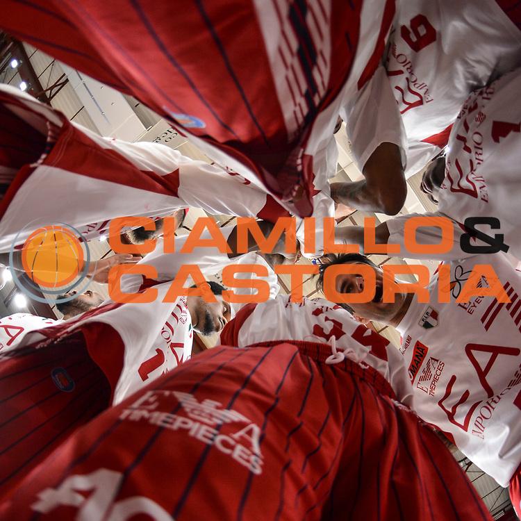 DESCRIZIONE : Campionato 2014/15 Dinamo Banco di Sardegna Sassari - Olimpia EA7 Emporio Armani Milano Playoff Semifinale Gara3<br /> GIOCATORE : Team Milano<br /> CATEGORIA : Before Pregame Fair Play<br /> SQUADRA : Olimpia EA7 Emporio Armani Milano<br /> EVENTO : LegaBasket Serie A Beko 2014/2015 Playoff Semifinale Gara3<br /> GARA : Dinamo Banco di Sardegna Sassari - Olimpia EA7 Emporio Armani Milano Gara4<br /> DATA : 02/06/2015<br /> SPORT : Pallacanestro <br /> AUTORE : Agenzia Ciamillo-Castoria/L.Canu