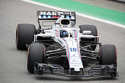 November 10, 2018 - Sao Paulo, Sao Paulo, Brazil - LANCE STROLL, of Willians Martini Racing, during the free practice session for the Formula One Grand Prix of Brazil at Interlagos circuit, in Sao Paulo, Brazil. The grand prix will be celebrated next Sunday, November 11. (Credit Image: © Paulo LopesZUMA Wire)