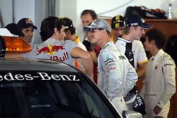 Motorsports / Formula 1: World Championship 2010, GP of Abu Dhabi, 06 Mark Webber (AUS, Red Bull Racing),   03 Michael Schumacher (GER, Mercedes GP Petronas),