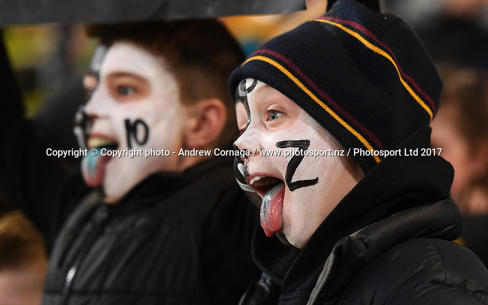 Fans and supporters.<br /> Bledisloe Cup and Rugby Championship test match. New Zealand All Blacks v Australian Wallabies at Forsyth Barr Stadium, Dunedin, New Zealand. Saturday 26 August 2017. &copy; Copyright photo: Andrew Cornaga / www.Photosport.nz