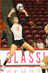 01 September 2012:  Kaitlyn Early during an NCAA womens volleyball match between the Oregon State Beavers and the Illinois State Redbirds at Redbird Arena in Normal IL