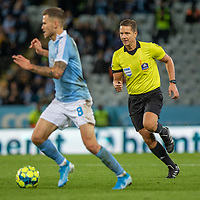 2019-10-06 | Malmö, Sweden: Referee Martin Strömbergsson during the game between Malmö FF and IFK Göteborg at Malmö Stadion ( Photo by: Roger Linde | Swe Press Photo )<br /> <br /> Keywords: Malmö Stadion, Malmö, Soccer, Allsvenskan, Malmö FF, IFK Göteborg, mg191006