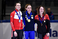 February 9, 2019 - Torino, Italia - Foto LaPresse/Nicolò Campo .9/02/2019 Torino (Italia) .Sport.ISU World Cup Short Track Torino - Ladies 500 meters Final A .Nella foto: Natalia Maliszewska, Martina Valcepina, Kim Boutin sul podio..Photo LaPresse/Nicolò Campo .February 9, 2019 Turin (Italy) .Sport.ISU World Cup Short Track Turin - Ladies 500 meters Final A.In the picture: Natalia Maliszewska, Martina Valcepina, Kim Boutin on podium (Credit Image: © Lapresse via ZUMA Press)