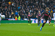 Leeds United forward Patrick Bamford (9) in action during the EFL Sky Bet Championship match between Huddersfield Town and Leeds United at the John Smiths Stadium, Huddersfield, England on 7 December 2019.