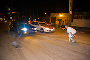 USA, Providence August 2008 - Illegal Street Racing culture in Providence, Rhode Island