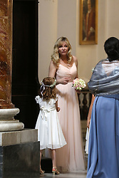 EXCLUSIVE: ***NO WEB UNTIL 1PM, OCT 2*** Kirsten Dunst is a bridesmaid at the Rome wedding of her best friend, Cindy McGee, who married John Manieri, a pharmaceutical executive. Guests at the lavish wedding, from the US and some Italians, stayed in a luxury 5 star hotel, and enjoyed limousine service to a party at Villa Aurelia, overlooking Monte Mario. The wedding took place in the monumental church of Sant'Ignazio. Dunst's parents also attended the wedding. 30 Sep 2017 Pictured: Kristen Dunst. Photo credit: MEGA TheMegaAgency.com +1 888 505 6342