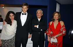 Left to right, ARIANNA ARBIB, JETHRO GOLDSMITH half brother of Zac Goldsmith and SIMON & JOYCE REUBEN at the British Red Cross London Ball held at The Room by The River, 99 Upper Ground, London SE1 on 16th November 2006.<br />
