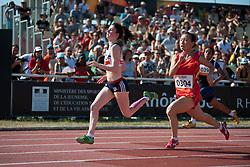 BREEN Olivia, CHEN Junfei, GBR, CHN, 200m, T38, 2013 IPC Athletics World Championships, Lyon, France