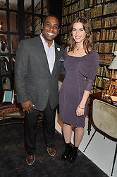 JULIUS ROBINSON vice president of Autograph Collection Hotels and SAI BENNETT at a dinner hosted by Autograph Collection Hotels held at 19 Greek Street, Soho, London on 12th October 2016.