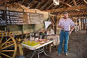 Seth Klann at his family farm, Mecca Grade Estate Malt, in Madra, Oregon.