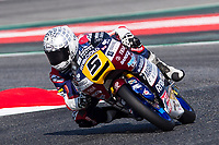 Romano Fenati of Italy and Marinelli Rivacold Snipers Team  rides during free practice for the Moto3 of Catalunya at Circuit de Catalunya on June 10, 2017 in Montmelo, Spain.(ALTERPHOTOS/Rodrigo Jimenez)