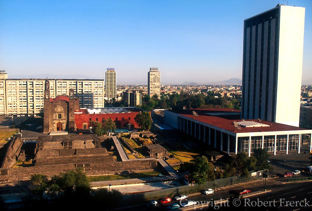 MEXICO, MEXICO CITY, AZTEC Plaza of the Three Cultures