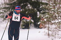 Racer Robert Smith competes in the 45k at the Annual White Pine Stampede at Schuss Mountain Shanty Creek Resort and Spa on February 2, 2019.