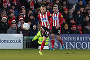 Joe Morrell (19 on loan from Bristol City) during the EFL Sky Bet League 1 match between Lincoln City and Tranmere Rovers at Sincil Bank, Lincoln, United Kingdom on 14 December 2019.
