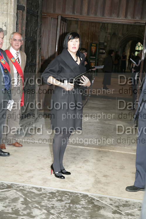 Alice Rawsthorn, Funeral for Isabella Blow. Gloucester Cathedral. 15 May 2007.  -DO NOT ARCHIVE-© Copyright Photograph by Dafydd Jones. 248 Clapham Rd. London SW9 0PZ. Tel 0207 820 0771. www.dafjones.com.