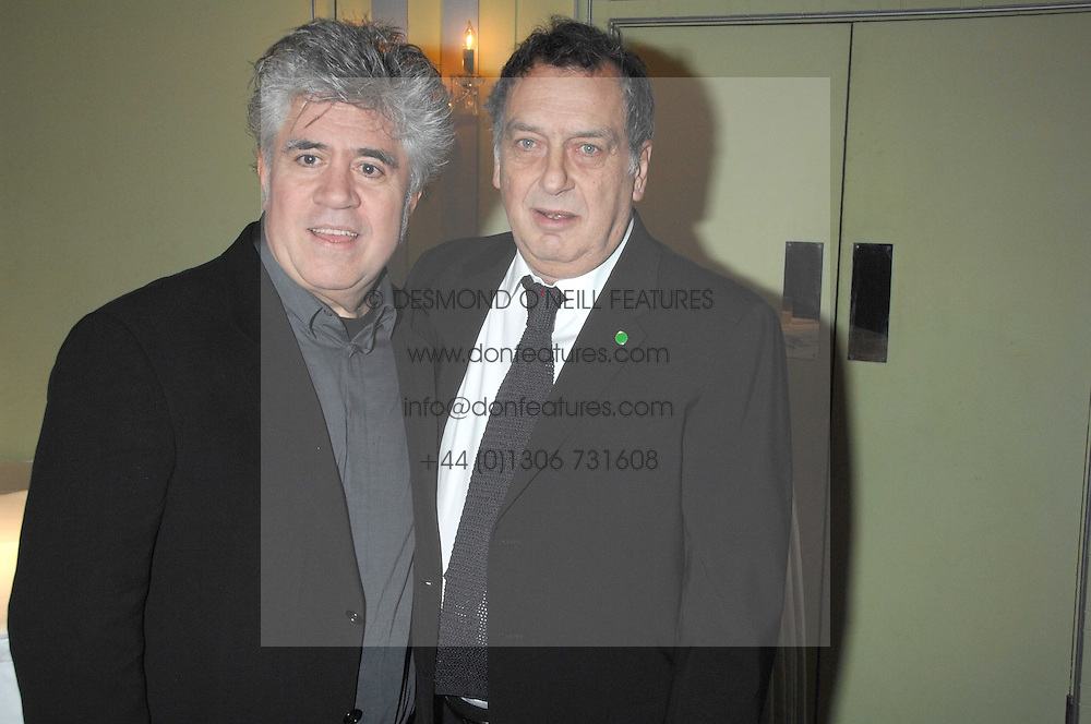 Left to right, directors PEDRO ALMODOVAR and STEPHEN FREARS attending the 27th Awards of the London Film Critics' Circle 2007 in aid of the NSPCC held at The Dorchester, Park Lane, London on 8th February 2007.<br /><br />NON EXCLUSIVE - WORLD RIGHTS