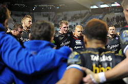 Stuart Hooper of Bath Rugby speaks to his team after the match - Mandatory byline: Patrick Khachfe/JMP - 07966 386802 - 10/01/2016 - RUGBY UNION - Stade Mayol - Toulon, France - RC Toulon v Bath Rugby - European Rugby Champions Cup.