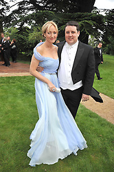 J K ROWLING and PETER KAY at the Raisa Gorbachev Foundation fourth annual fundraising gala dinner held at Stud House, Hampton Court, Surrey on 6th June 2009.