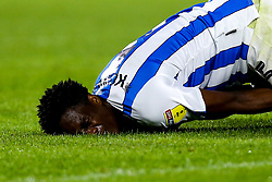 Terence Kongolo of Huddersfield Town looks in pain - Mandatory by-line: Robbie Stephenson/JMP - 05/08/2019 - FOOTBALL - The John Smith's Stadium - Huddersfield, England - Huddersfield Town v Derby County - Sky Bet Championship