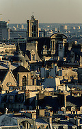 France. Paris. 4th district. Elevated view.  Paris. view from Saint Eustache church bell tower