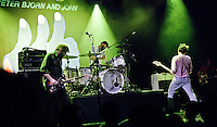 """Peter, Bjorn, and John perform in support of """"GIMME SOME"""" at the El Rey Theatre in Los Angeles, California on May 14, 2011"""